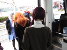 高岡市観光協会のブログ-万葉線のコスプレアテンダント