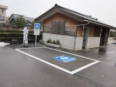 大仏君の日記帳(高岡市観光協会のブログ)-瑞龍寺門前駐車場の充電スタンド
