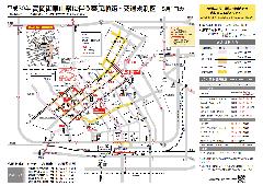 平成30年度 高岡御車山祭奉曳順路・交通規制図